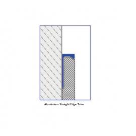 Aluminium Straight Edge Trims 2.5 Lm @ 4.5 mm Height