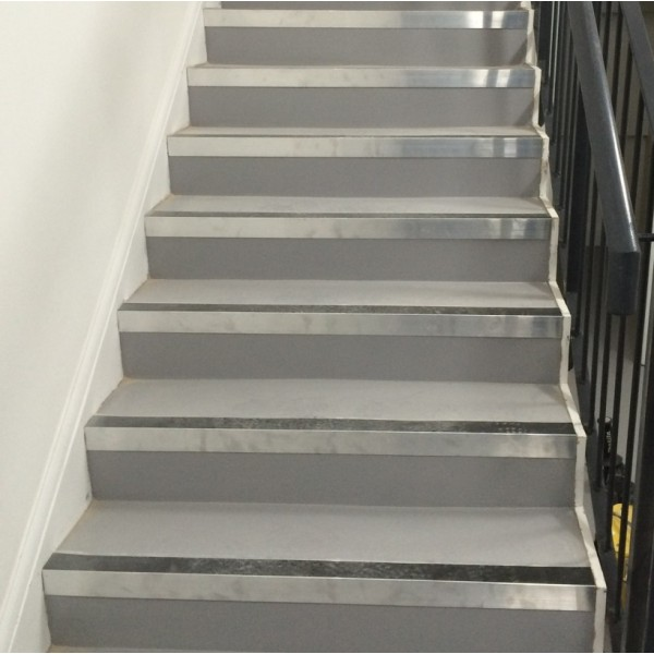 Aluminium Anodised Stair Nosing with 43 mm insert 2.5LM AA125