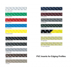PVC Inserts for Stair Nosing Profiles 43 mm x 25 m Various Colours