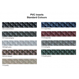 PVC Inserts for Stair Nosing Profiles 13 mm Width 250 cm Various Colours