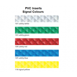 PVC Inserts for Stair Nosing Profiles 37 mm Width 250 cm Various Colours