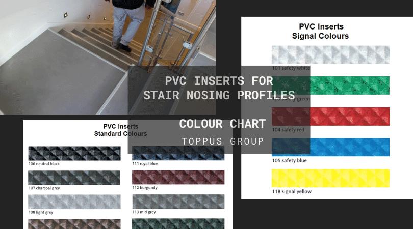 PVC inserts colour chart