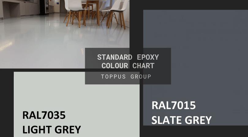 Standard epoxy colour chart